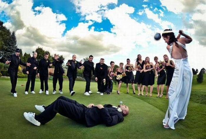 28 смешных и прикольных свадебных фотографий