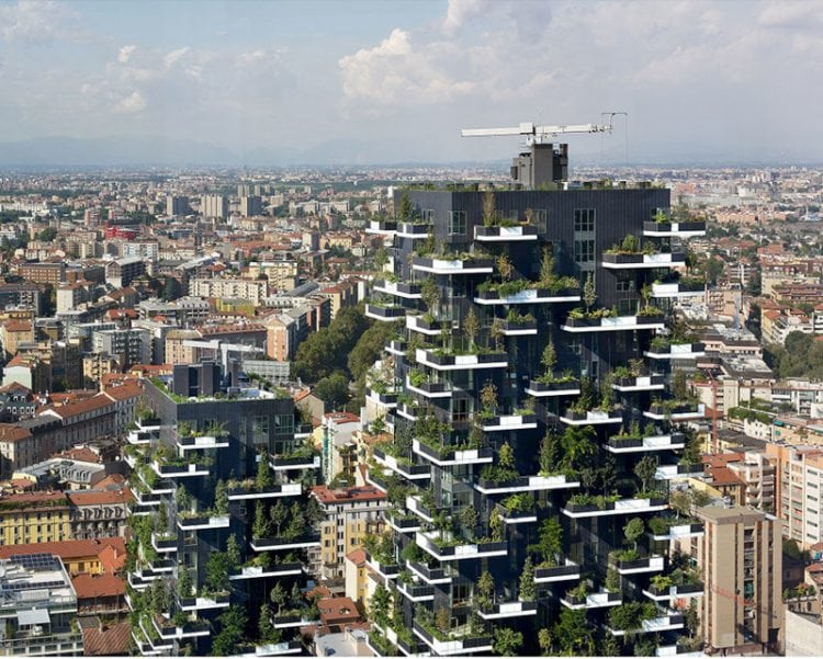 Первый «вертикальный лес» в Азии, который ежедневно будет преобразовывать СО2 в 60 кг кислорода
