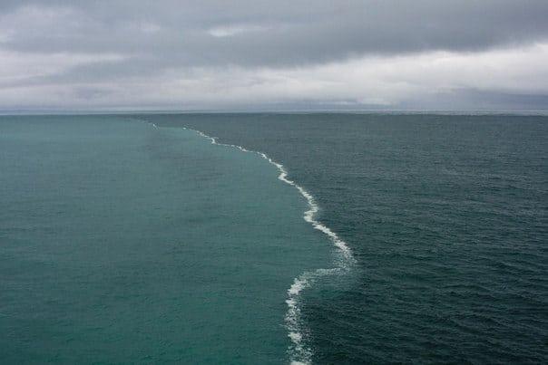 2 океана встретились, но не пересеклись. Потрясающее видео!
