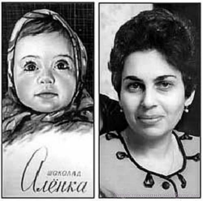 История девочки с шоколадной обертки. Самый любимый шоколад «Алёнка» в СССР