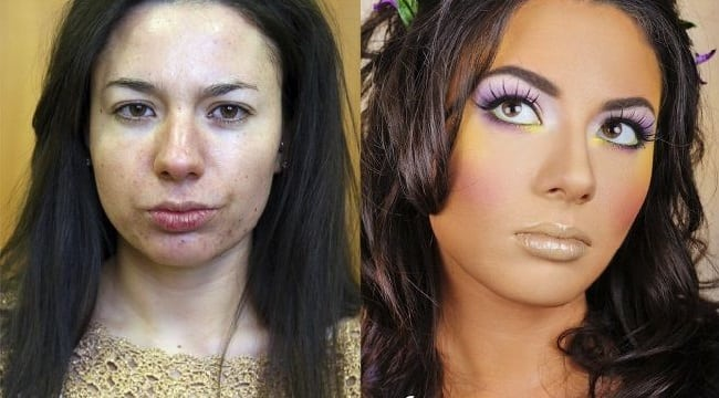 Красота спасет мир! Посмотрите как макияж меняет женщину!
