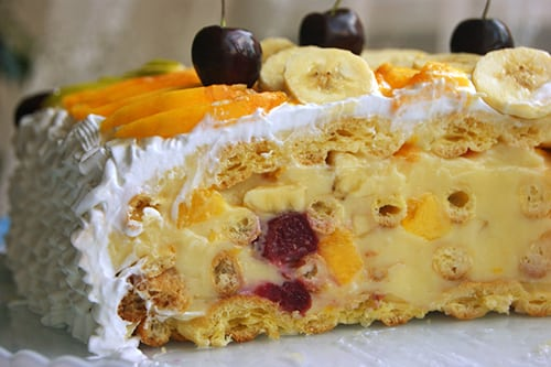 """Легкий низкокалорийный десерт """"Тропиканка"""". Простой рецепт!"""