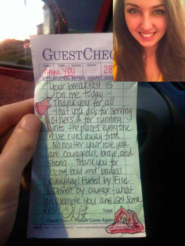 О поступке этой официантки узнал весь Интернет спустя 2 часа. По больше бы таких людей на свете!