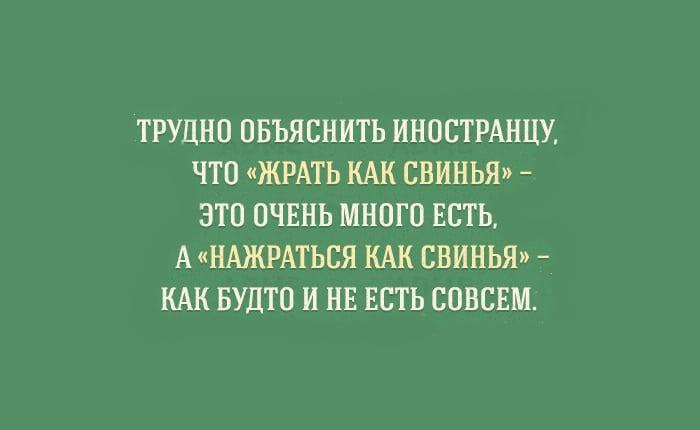 Странности великого и могучего русского языка