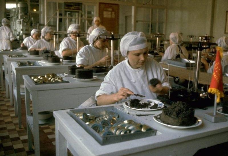 Вот так добывали черную икру в СССР!