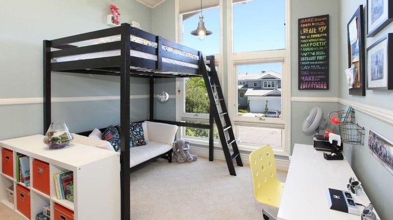 20 классных идей интерьера с использованием двухъярусной кровати