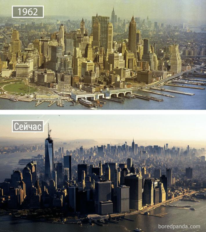 30 городов, которые изменились до неузнаваемости