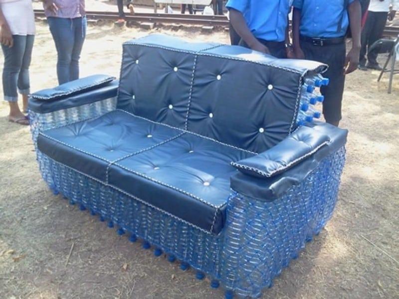 Мебель для сада из пластиковых бутылок