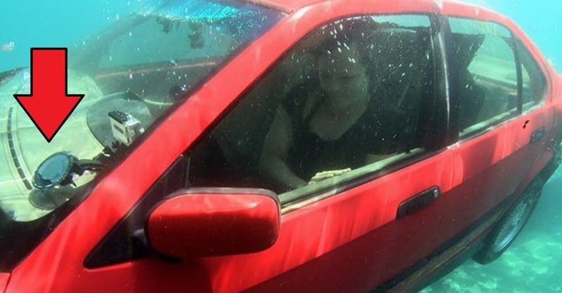 Как спастись если ваша машина упала в воду? Когда нибудь эти советы вам могут помочь!