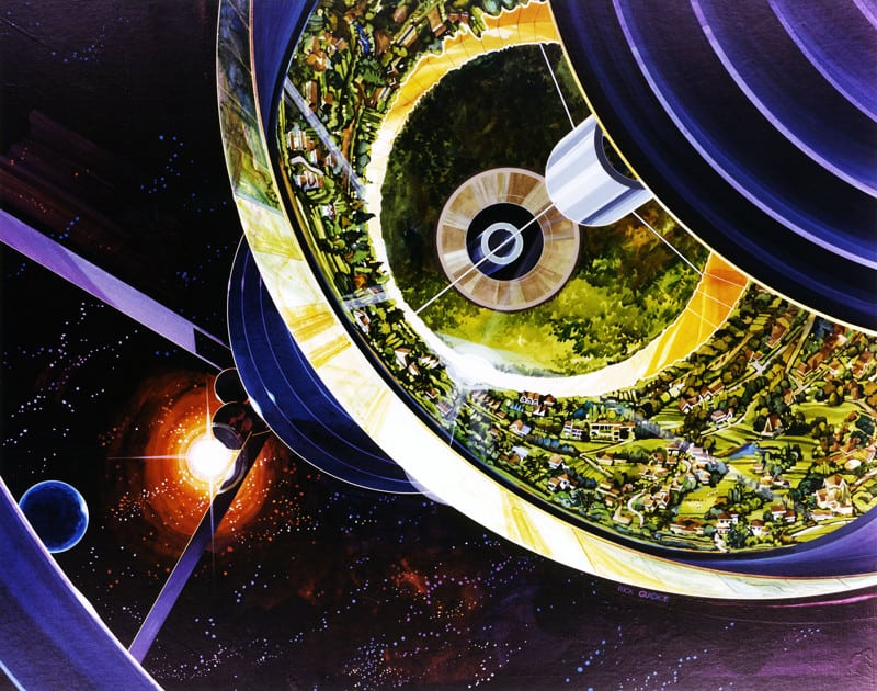 NASA представили космические колонии ближайшего будущего!