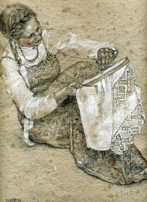 Нежные акварельные картины художницы из России Марии Курбатовой