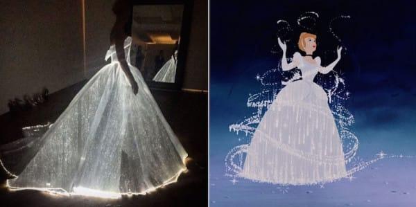 Она покорила всех своим бесподобным платьем Золушки