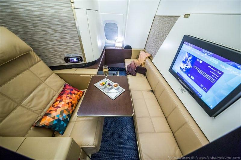 Самый шикарный первый класс в самолете