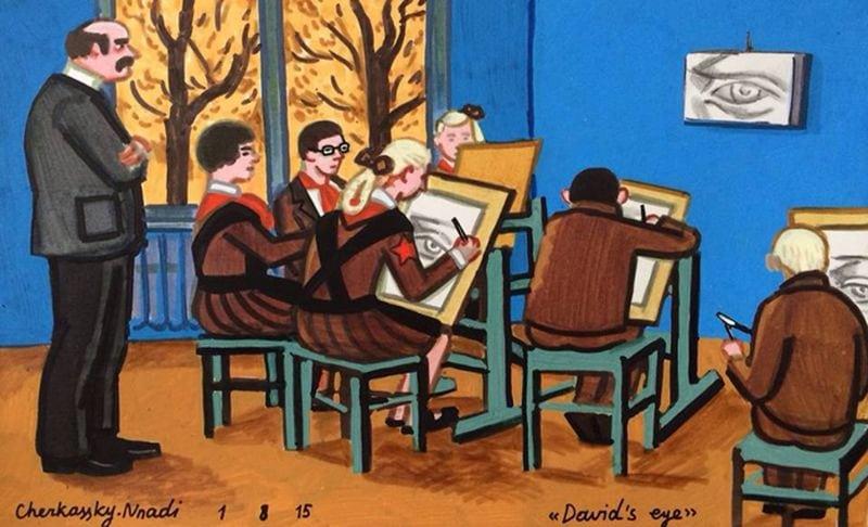 Трогательные рисунки художницы из Израиля о детстве в СССР