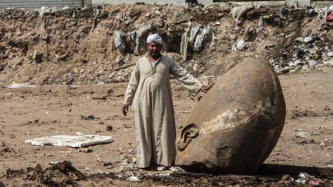 В Египте обнаружили древнюю статую Рамзеса Второго