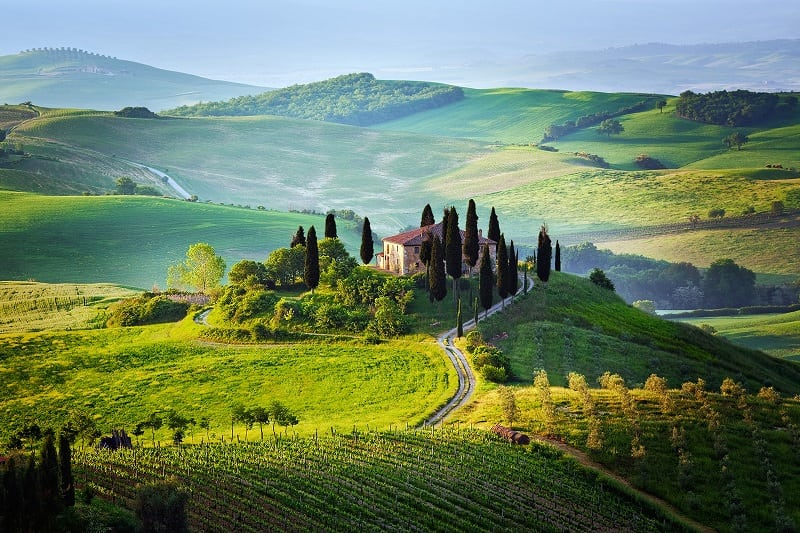 Волшебная Тоскана — изумительные пейзажи