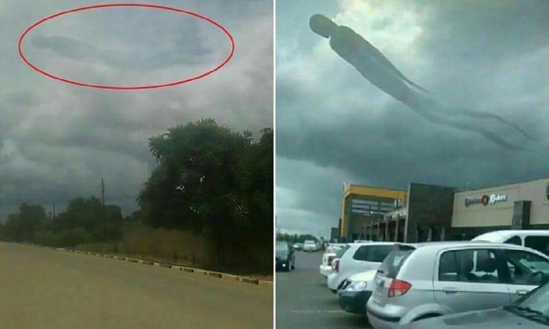 Воздушная тень призрака ввела жителей Замбии в ступор! Все были напуганы...
