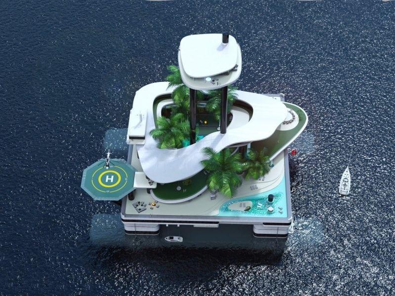 Яхта - прошлый век. Новый тренд богачей: передвижные острова!