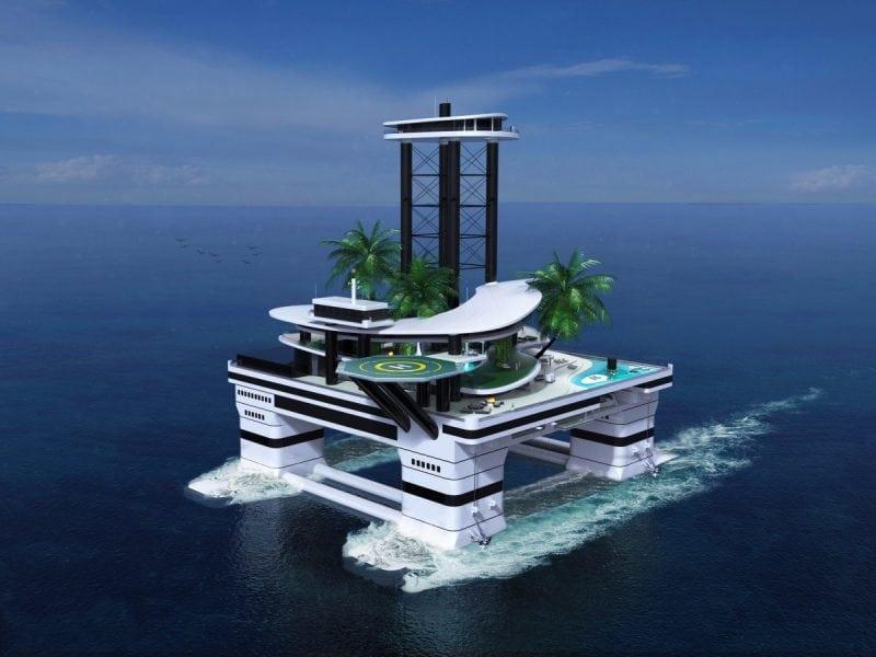 Яхта — прошлый век. Новый тренд богачей: передвижные острова!