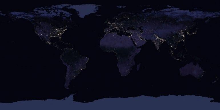 Ночная Земля из космоса. NASA выкладывает новые потрясающие снимки