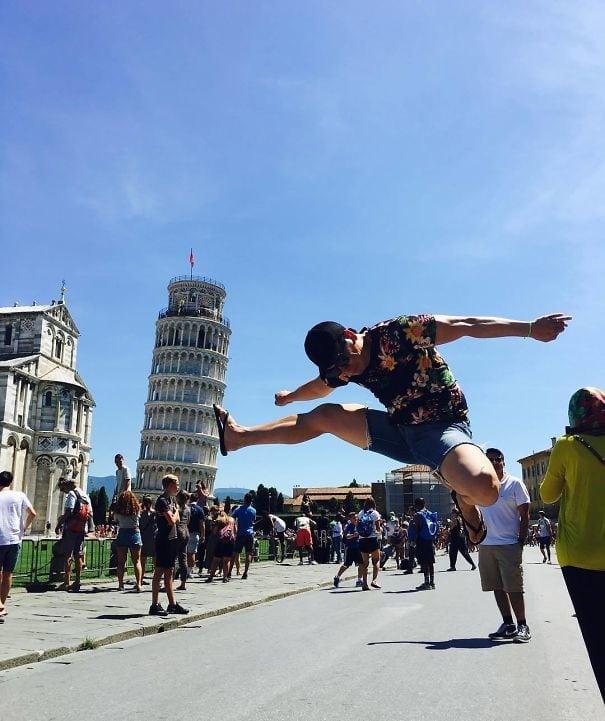 15 самых оригинальных фотографий рядом с Пизанской башней