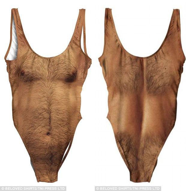 Безумная мода: Женский купальник с волосатой грудью стал хитом продаж в Интернете