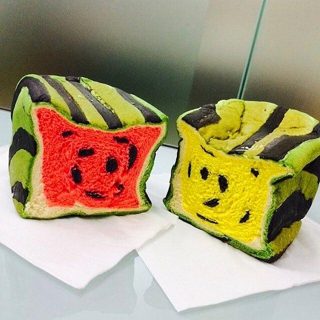 Хлеб для детей в виде арбуза - новшество в Тайване!