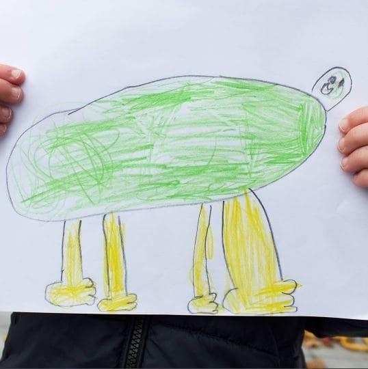 Предприимчивый папа делает из рисунков сына настоящее чудо