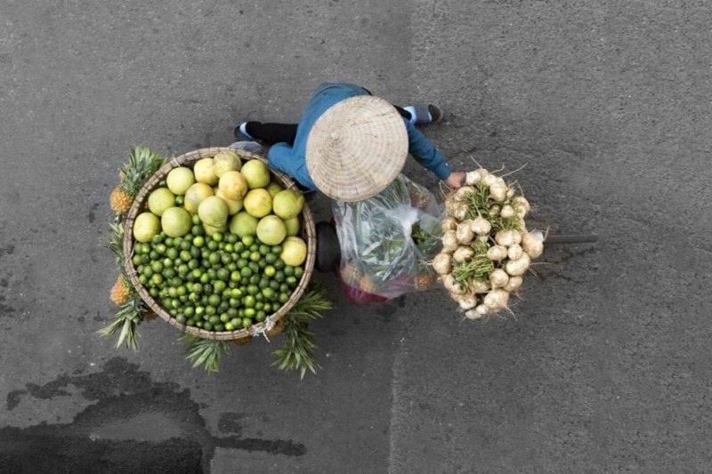вьетнамские уличные торговцы