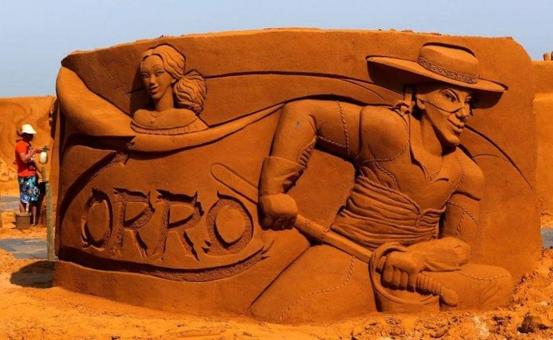 Грандиозный показ песчаных творений в Бельгии