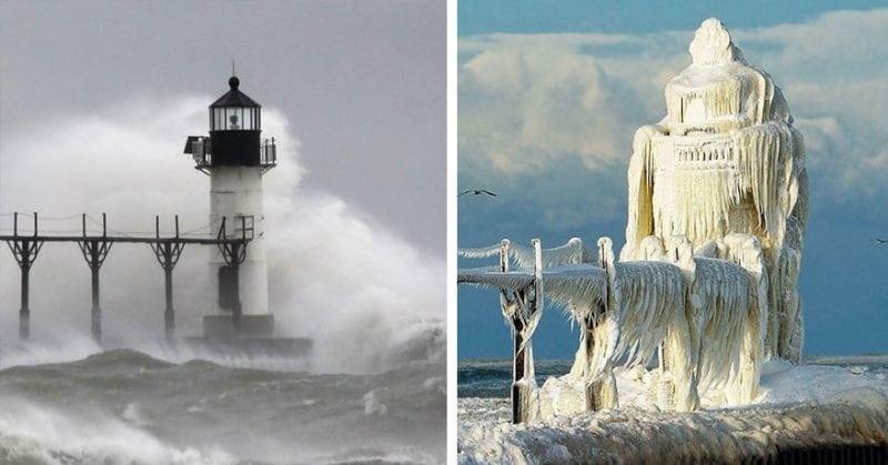как выглядят места зимой и летом