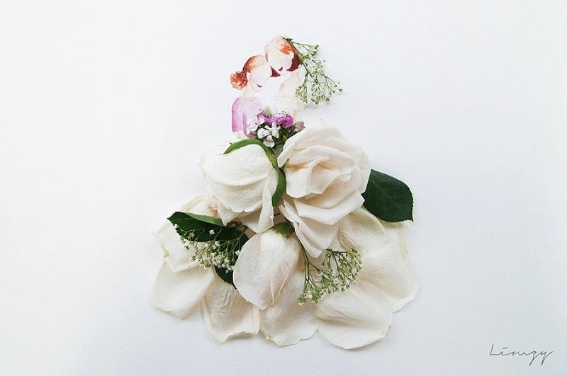 30 потрясающих рисунков, которые совмещают акварель и живые цветы