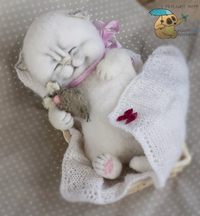 Тёплый мир, где сбываются мечты: войлочные игрушки от Юлии Юркевич