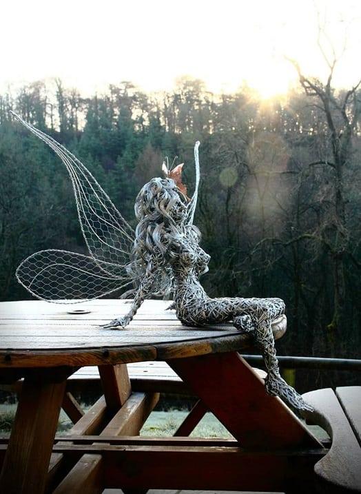 Художник из Британии создает прекрасные проволочные скульптуры фей