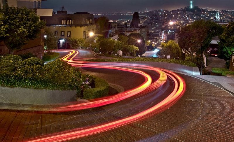 Ломбард-стрит: самая красивая улица на планете, расположенная в Сан-Франциско