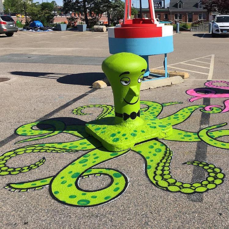 Уличный стрит арт от Нью-Йоркского художника