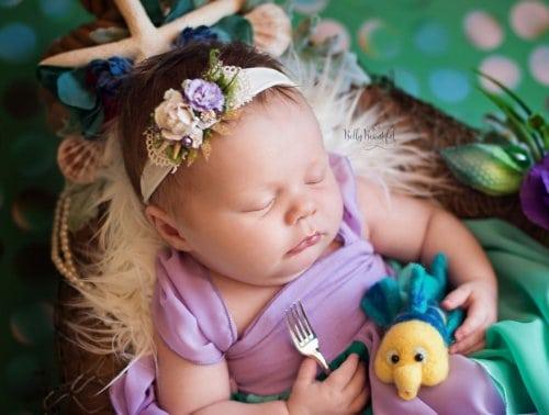 Прекрасные фотографии новорожденных в стиле диснеевских принцесс