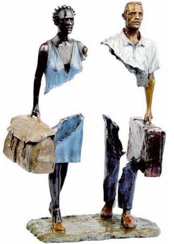 """Самая нашумевшая серия скульптур Les Voyageurs - """"Путешественники"""""""