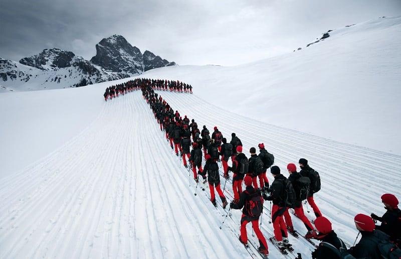Самая потрясающая и опасная фотосессия в Альпах