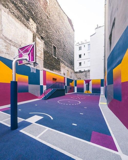 Самая стильная баскетбольная площадка Франции