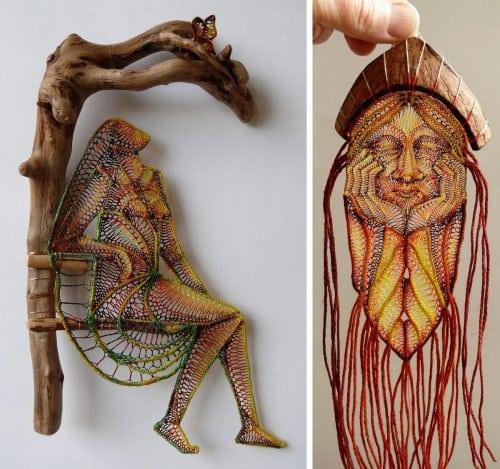Скульптуры из кружева - выглядит очень необычно и интересно