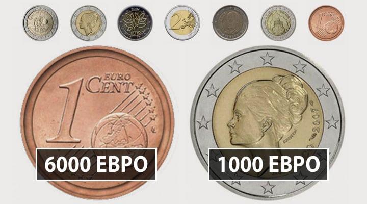 дорогие монеты евро