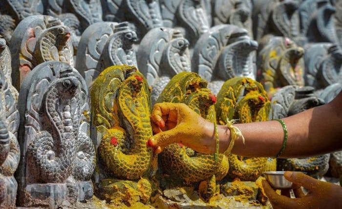 поклонение змеям в Азии