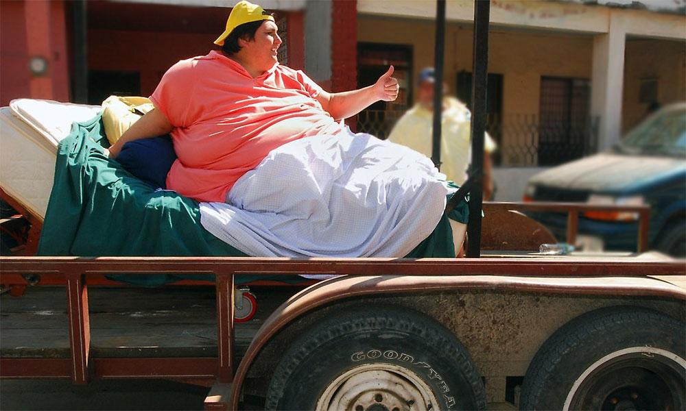 Самый толстый человек в мире и с самым большим животом